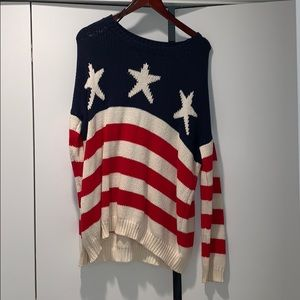 forever 21 oversized american sweater